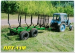 Полуприцеп лесовозный тракторный ПЛТ-11М
